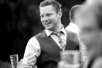 Surrey Wedding Photography - Woldingham Golf Club- bestman outside black and white