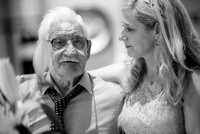 Surrey Wedding Photography - Woldingham Golf Club- Bride and granddad black and white