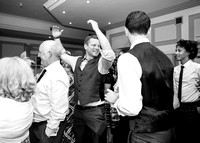 Surrey Wedding Photography - Woldingham Golf Club- guests dancing black and white