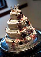 surrey wedding photographer wedding cake boxhill wedding