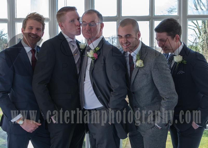 Surrey wedding photographer - wedding in leatherhead register office - Boys Group Photo