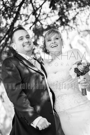 Romantice wedding -Surrey wedding photographer/ Wedding photography in the sunlight - Black and White Photography