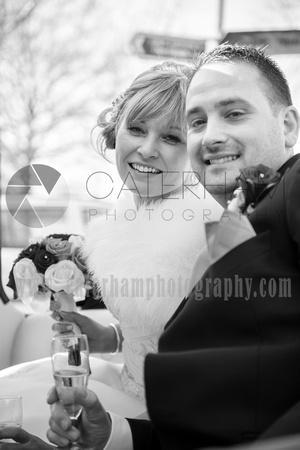 Romantice wedding -Surrey wedding photographer/ Wedding couple - Black and white wedding photography