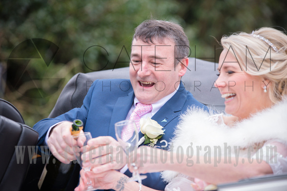 """Champers all round Popping the corks """"look out"""" They said there'll be showers by Surrey Wedding Photographer - beautiful wedding photos"""