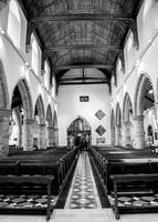 Surrey Wedding photographer /Church in Horsham/ Inside church - Black and White photography