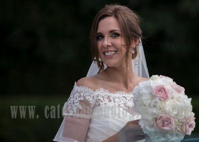 Surrey wedding photographer- selsdon park hotel- bride outside
