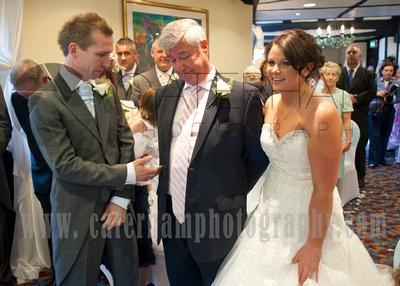 Surrey wedding photographer /Legacy Thatchers Hotel Wedding thankyou father inlaw (8)