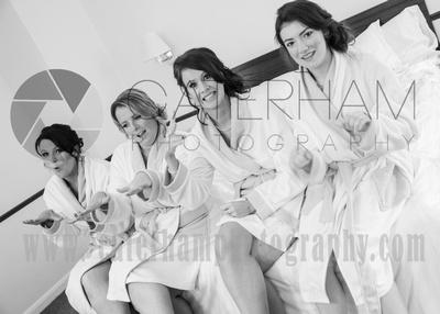 Surrey wedding photographer /Legacy Thatchers Hotel Weddings nails drying