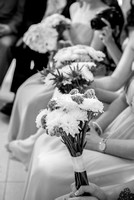 surrey wedding photographer-bridesmaid flower portrait