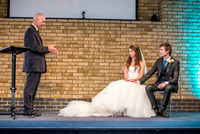 Surrey wedding photography / reigate baptist church (11) /  / Speech to the young couple during the ceremony