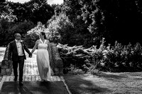 surrey wedding photographer- leatherhead registry office- bride and groom outside