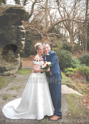 Surrey wedding Photographer- The High Rocks wedding at Tunbridge Wells Kent- the married couple hugging