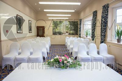 Surrey Wedding Photographer-  Reigate manor hotel- traditional wedding ceremony roomm