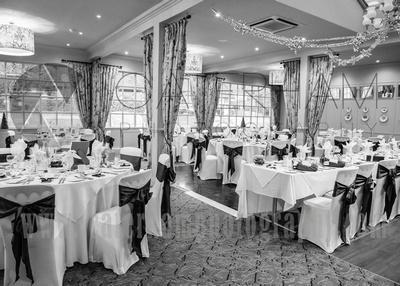 Surrey wedding Photographer- Reigate Manor hotel- stunning wedding reception room