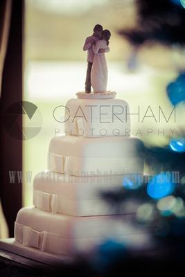 Surrey Wedding Photographer- weald of kent golf club- wedding cake