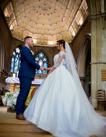 Surrey Wedding Photographer- selsdon park hotel- bride and groom at church giving vows