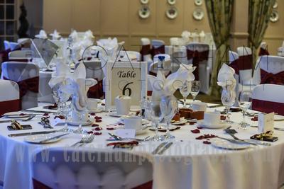 Surrey wedding Photographer- Reigate Manor hotel- Beautiful wedding tables