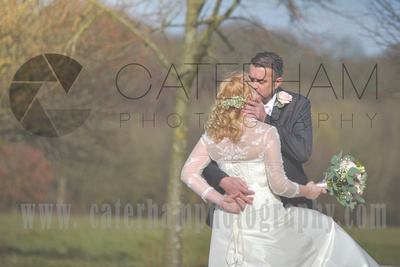 Surrey Wedding Photographer- Warlingham Farleigh Golf Club- bride and groom in the countryside