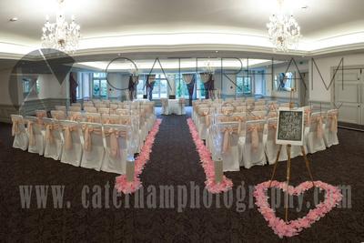 Surrey wedding photographers- Woodland Park Hotel surrey-wedding venue ready for the wedding ceremony