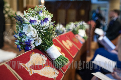 Surrey wedding photographer- Photographed Wedding at St Mary's Church in Dorking-  Fabulous Flowers
