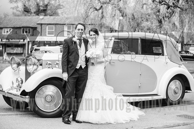 st bartholomew's church wedding otford- bride and dad