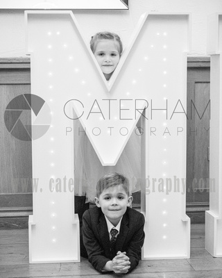 Surrey Wedding photographer- Wedding Venue Mulberry House- Page Boy and Flower Girl Looking adorable