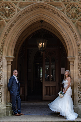 Surrey Wedding Photographer- Nutfield Priory- The Nutfield Priory venue doorway 28