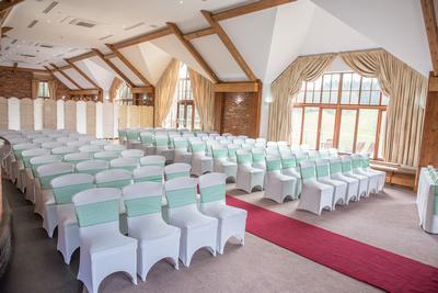 Surrey Wedding Photographer- Wedding ceremony at westerham golf club- inside the wedding venue