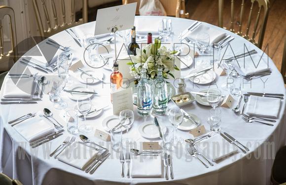 Surrey Wedding Photographer- Chiddingstone Castle- Table