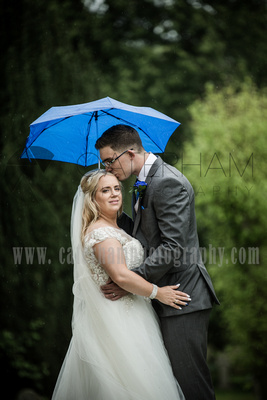 Surrey Wedding Photographer- St Nicholas Church Godstone- Breath-taking moment between newly-weds