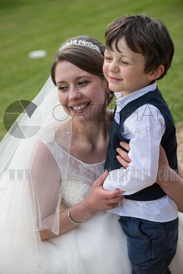Surrey wedding photographer Hartsfield Manor Bride with kids