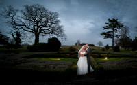 bride groom portrait at woodlands park hotel wedding