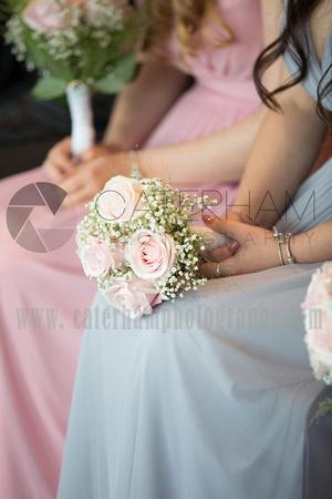Surrey wedding photographer Epsom Race Course weddings, Bridesmaid Bouquets
