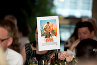 Movie themed wedding reception at The Pepys London by wedding photographer Caterham photography