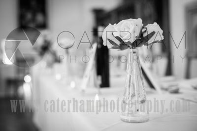 Surrey Wedding Venue photographed by Surrey Wedding Photographer. Wedding Decoration.