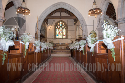 Sussex Wedding Photographer, Sussex Wedding Venue, St Peter's Church Firle, Church Aisle