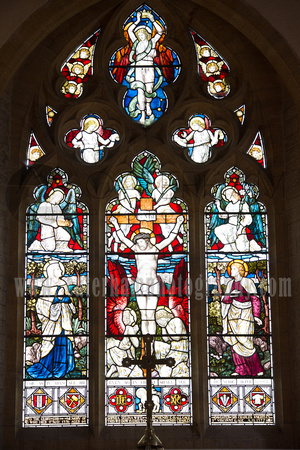 Sussex Wedding Photographer, Sussex Wedding Venue, St Peter's Church Firle, Stained Glass Window
