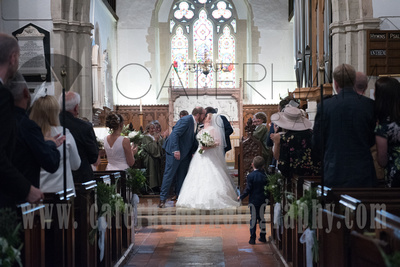 Surrey Wedding Venue, Surrey Wedding Photographer, St Michael's Church, Church Wedding, Bride and Groom
