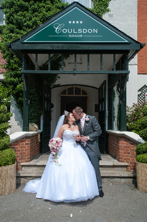 Surrey Wedding Photographer, Surrey Wedding Venue, Coulsdon Manor, Bride and Groom