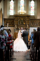 Bride and Groom at Altar, St Mary the Virgin, Bletchingley Weddings, Surrey Wedding Photographer