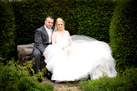 Bride and Groom Seated, Garden, Surrey Wedding Photographer, Wedding Photography