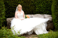 Bride in the Garden, St Mary the Virgin, Surrey Wedding Photographer, Wedding Photography