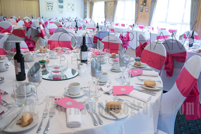 Chipstead Golf Club, Surrey Wedding Venue, Surrey Wedding Photographer, Surrey Wedding Photography, Surrey Wedding, Wedding Breakfast, Table lay up