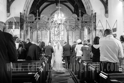 Bride and Groom at Altar, Church Wedding, Church Ceremony, Church View, Holy Trinity Church Crockham Hill, Kent Wedding Venue, Kent Wedding Photography, Kent Wedding Photographer