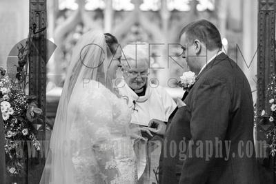 Bride and Groom at Altar, Church Wedding, Church Ceremony, Church View, Holy Trinity Church Crockham Hill, Kent Wedding Venue, Kent Wedding Photography, Kent Wedding Photographer, Bride and Groom