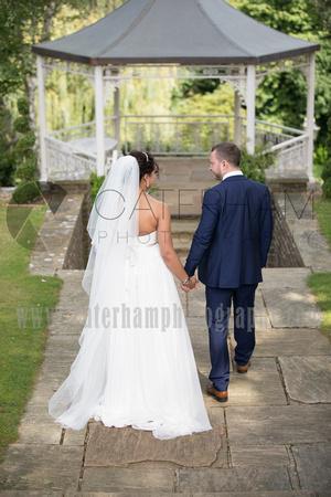 Bride and Groom, Wedding Photos, Bride and Groom in Garden, Wedding Garden, Hotel Garden, Pennyhill Park, Surrey Wedding Photographer, Hotel Wedding Photographer, Wedding Photography