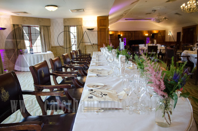 Top Table, Wedding Breakfast, Table Decoration, Floral Display, Pennyhill Park, Surrey Wedding Photographer, Hotel Wedding Photographer, Wedding Photography