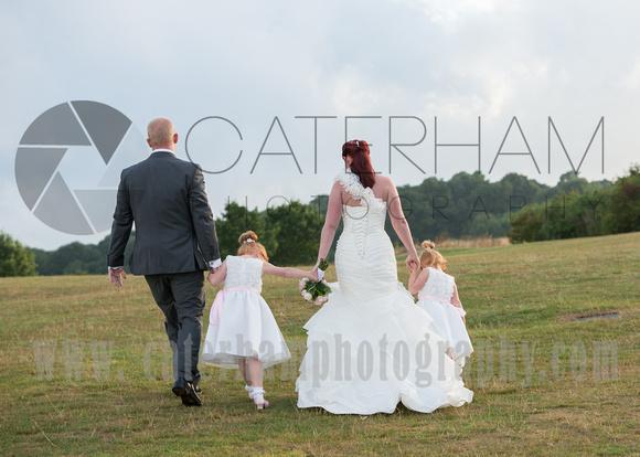 Surrey wedding Photographer- Farleigh Golf Course- bride groom and bridesmaids