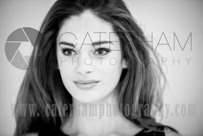 Surrey portrait photographer - beautiful makeup photo black and white
