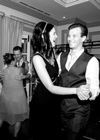Surrey Wedding Photography - Woldingham Golf Club- bridesmaid and best man dancing black and white